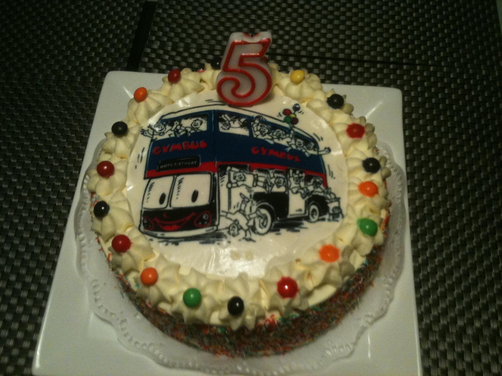 GymBus Cake