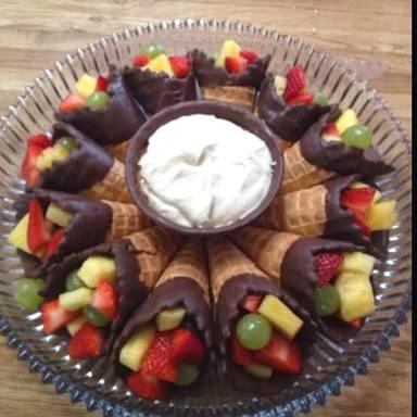 Fruit-filled Cones